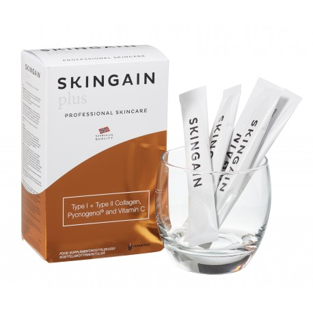 SkinGain PLUS m. Kollagen type 1 + 2, Pycnogenol og Vitamin C